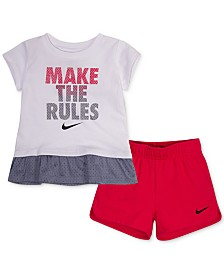 Nike Baby Girls 2-Pc. T-Shirt & Shorts Set