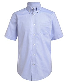 Little Boys Stretch Blue Oxford Shirt