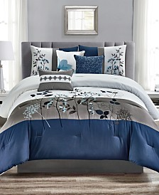 CLOSEOUT! Anastasia 7-Pc. Comforter Sets