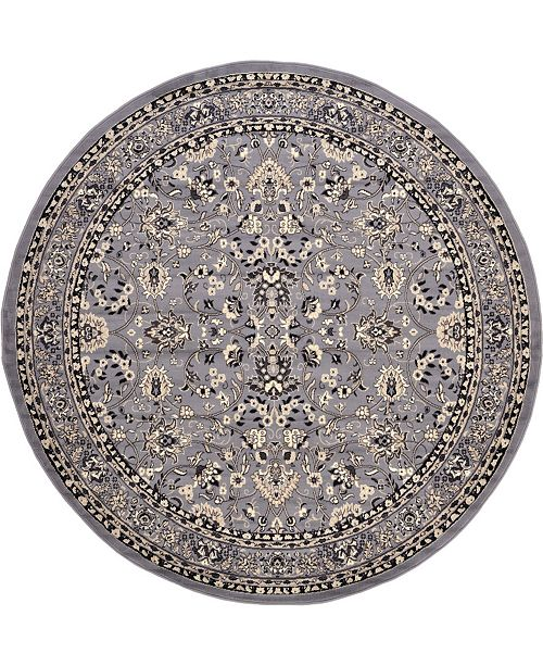Bridgeport Home Arnav Arn1 Gray 8' x 8' Round Area Rug