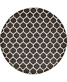 "Arbor Arb1 Brown 12' 2"" x 12' 2"" Round Area Rug"