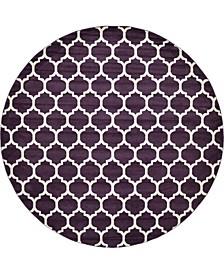 """Arbor Arb1 Purple 12' 2"""" x 12' 2"""" Round Area Rug"""