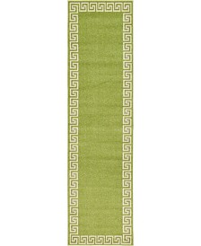"Bridgeport Home Anzu Anz2 Light Green 2' 7"" x 10' Runner Area Rug"