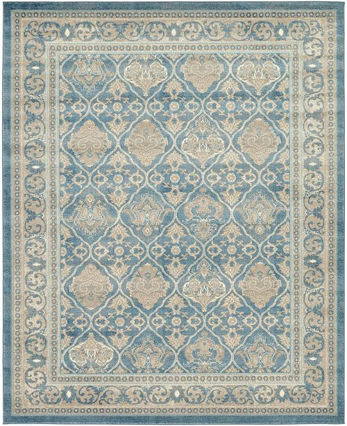 Bridgeport Home Bellmere Bel4 Light Blue 8' x 10' Area Rug