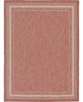 Pashio Pas5 Rust Red 9' x 12' Area Rug
