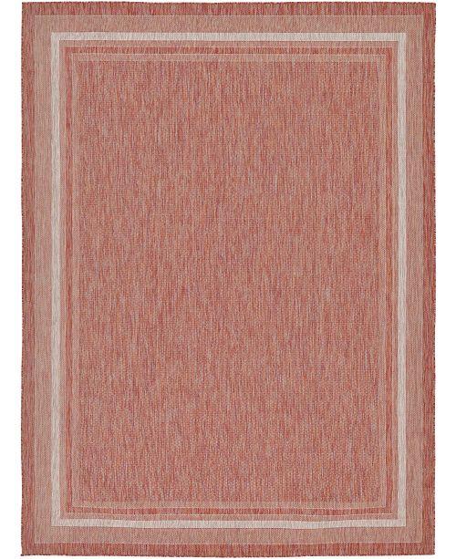Bridgeport Home Pashio Pas5 Rust Red 9' x 12' Area Rug