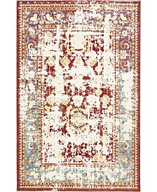 Bridgeport Home Malin Mal1 Red 5' x 8' Area Rug