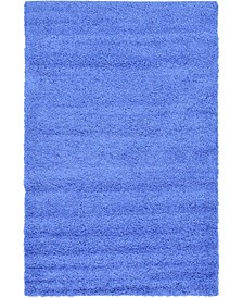 Exact Shag Exs1 Periwinkle Blue 5' x 8' Area Rug