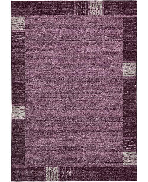 "Bridgeport Home Lyon Lyo1 Purple 8' x 11' 4"" Area Rug"