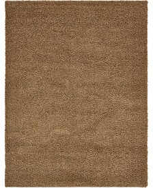Bridgeport Home Exact Shag Exs1 Sandy Brown 12' x 15' Area Rug