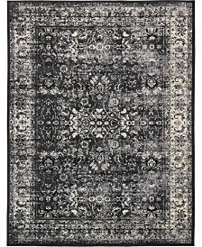 Bridgeport Home Linport Lin1 Black 10' x 13' Area Rug