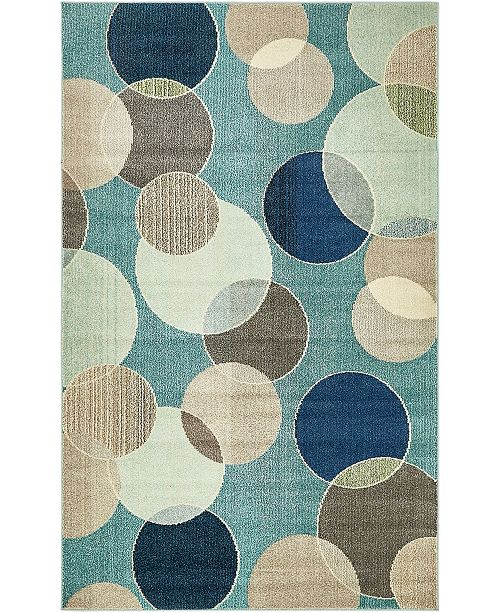 Bridgeport Home Crisanta Crs6 Blue 5' x 8' Area Rug