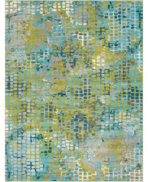 Bridgeport Home Crisanta Crs4 Green 8' x 10' Area Rug