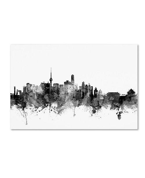 "Trademark Global Michael Tompsett 'Beijing China Skyline B&W' Canvas Art - 16"" x 24"""
