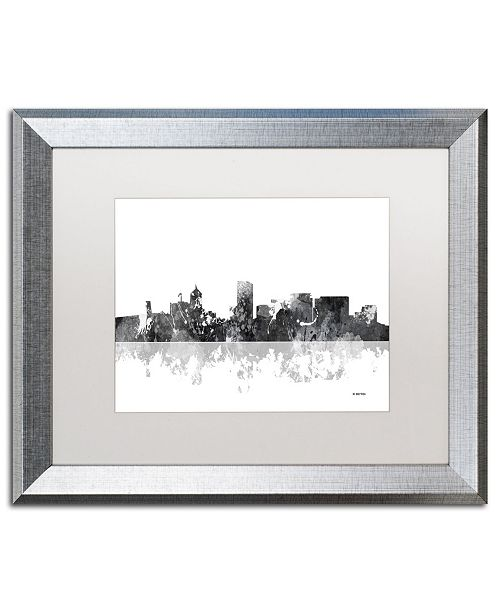 "Trademark Global Marlene Watson 'Portland Oregon Skyline BG-1' Matted Framed Art - 16"" x 20"""