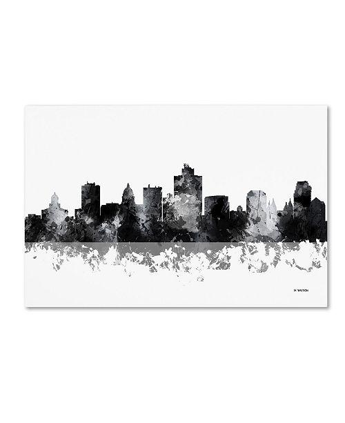 "Trademark Global Marlene Watson 'Salt Lake City Utah Skyline BG-1' Canvas Art - 16"" x 24"""