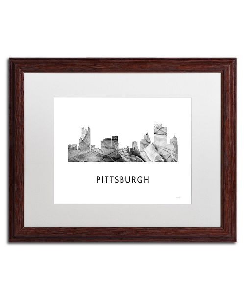 Trademark Global Marlene Watson 'Pittsburgh PA Skyline WB