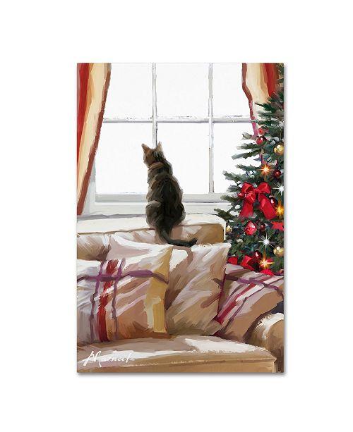 "Trademark Global The Macneil Studio 'Cat on Chair' Canvas Art - 16"" x 24"""
