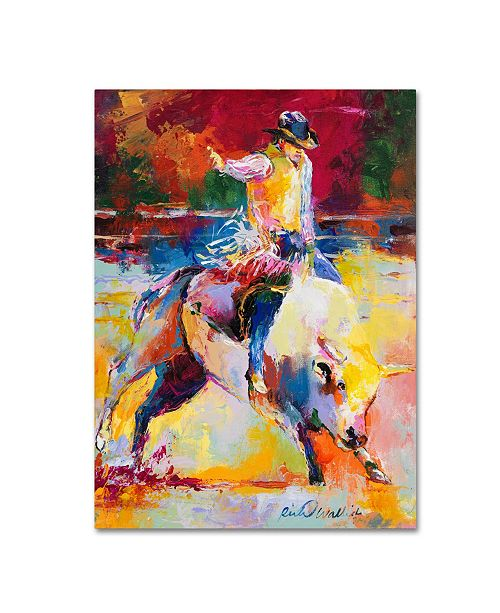 "Trademark Global Richard Wallich 'Rodeo' Canvas Art - 18"" x 24"""