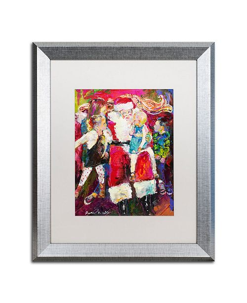 "Trademark Global Richard Wallich 'Santa and Bailey' Matted Framed Art - 16"" x 20"""