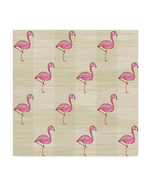 "Trademark Global Jessmessin 'Flamingos Natural' Canvas Art - 18"" x 18"""
