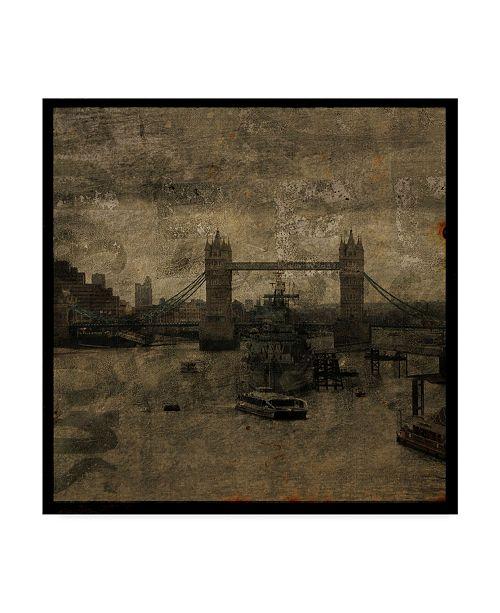 "Trademark Global John W. Golden 'Tower Bridge Landscape' Canvas Art - 18"" x 18"""
