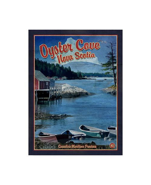"""Trademark Global Old Red Truck 'Oyster Cove Nova Scotia' Canvas Art - 18"""" x 24"""""""