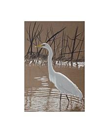 "Rusty Frentner 'Great Egret' Canvas Art - 16"" x 24"""