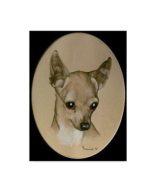 "Trademark Global Rusty Frentner 'Chihuahua' Canvas Art - 18"" x 24"""