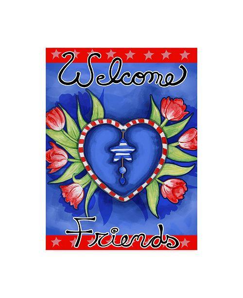 """Trademark Global Valarie Wade 'Poppy Heart' Canvas Art - 18"""" x 24"""""""