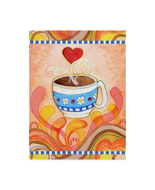 """Trademark Global Valarie Wade 'Cup Of Love' Canvas Art - 18"""" x 24"""""""