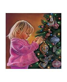 "Tricia Reilly-Matthews 'Christmas Joy' Canvas Art - 18"" x 18"""