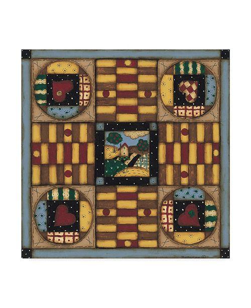 """Trademark Global Robin Betterley 'Homespun Patches' Canvas Art - 14"""" x 14"""""""