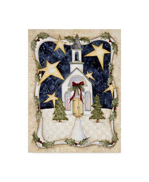 "Trademark Global Robin Betterley 'Christmas Church' Canvas Art - 18"" x 24"""