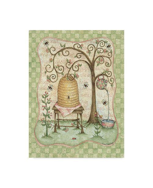 """Trademark Global Robin Betterley 'Garden 4' Canvas Art - 18"""" x 24"""""""