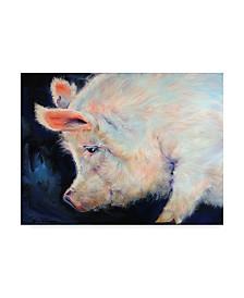 "Marcia Baldwin 'My Pink Pig' Canvas Art - 24"" x 18"""