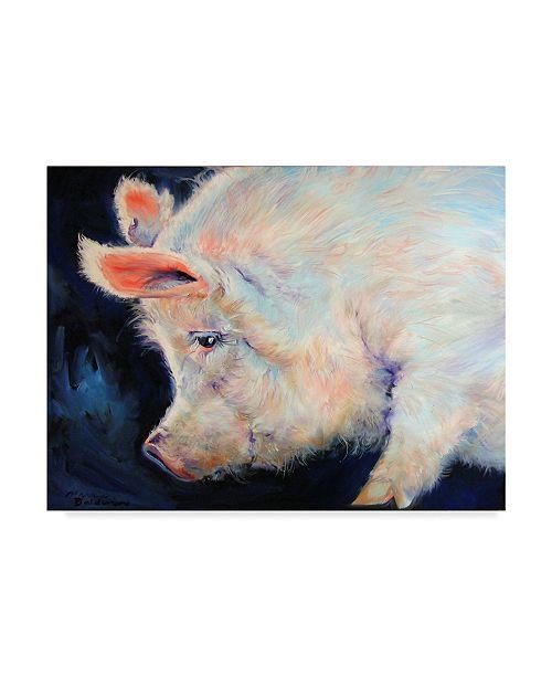 "Trademark Global Marcia Baldwin 'My Pink Pig' Canvas Art - 24"" x 18"""