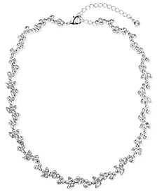 "Givenchy 16"" Flower Collar Necklace"