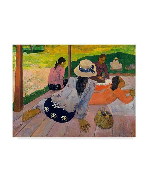 "Trademark Global Paul Gauguin 'The Siesta' Canvas Art - 19"" x 14"""