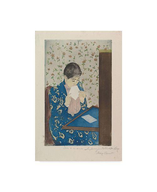 """Trademark Global Mary Stevenson Cassatt 'The Letter' Canvas Art - 24"""" x 16"""""""