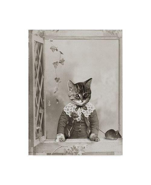 """Trademark Global J Hovenstine Studios 'Cat And Mouse' Canvas Art - 24"""" x 32"""""""