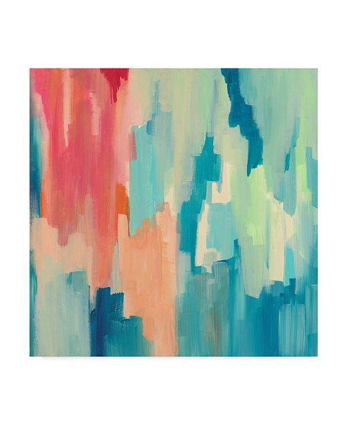 """Trademark Global Jennifer Mccully 'Color Theory Abstract' Canvas Art - 18"""" x 18"""""""