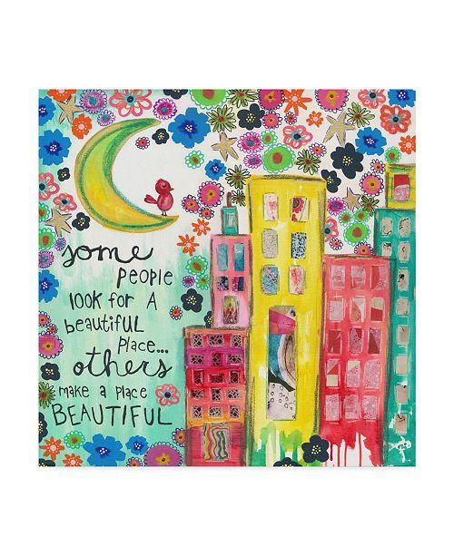 """Trademark Global Jennifer Mccully 'Make A Place Beautiful' Canvas Art - 14"""" x 14"""""""