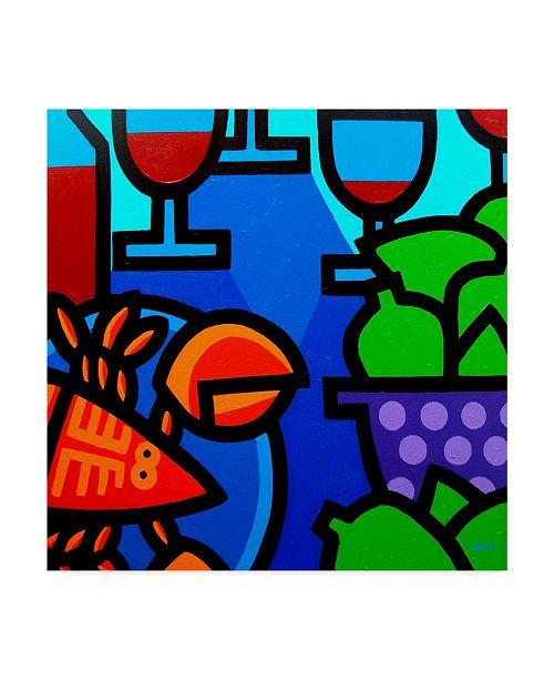 "Trademark Global John Nolan 'Lobster Wine And Limes' Canvas Art - 18"" x 18"""