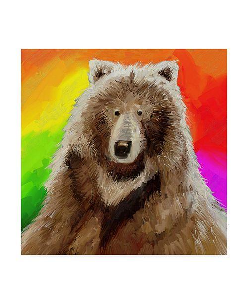 """Trademark Global Howie Green 'Pop Art Bear' Canvas Art - 18"""" x 18"""""""