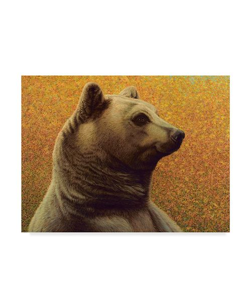 "Trademark Global James W. Johnson 'Bear Scanning' Canvas Art - 24"" x 18"""