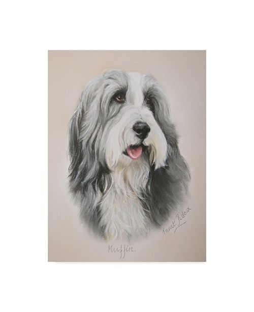 """Trademark Global Janet Pidoux 'Muffin' Canvas Art - 14"""" x 19"""""""