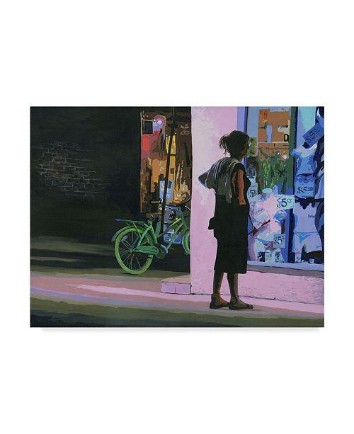 "Trademark Global J Arthur 'Five Dollar' Canvas Art - 24"" x 18"""