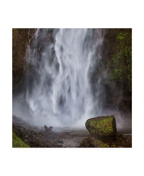 "Trademark Global Jason Matias 'Multmomah Falls Square' Canvas Art - 24"" x 24"""