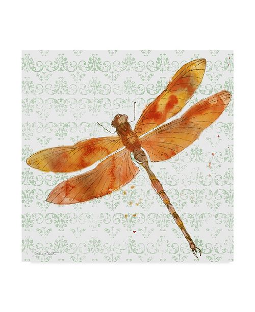 "Trademark Global Jean Plout 'Dragonfly Bliss 4' Canvas Art - 18"" x 18"""